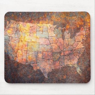 United States of America Map Mouse Pad
