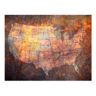 United States of America Map Postcard