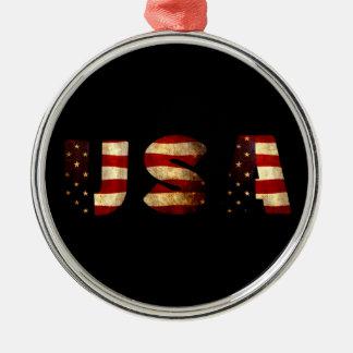 United States of America Metal Ornament