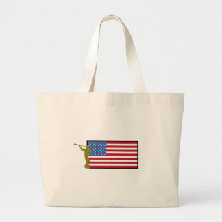 United States of America Mission LDS CTR Large Tote Bag