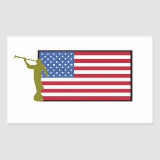 United States of America Mission LDS CTR Rectangular Sticker