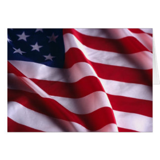 United States of America National  Flag Card