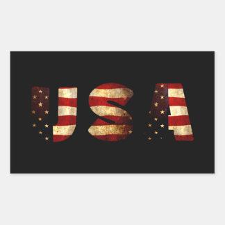United States of America Rectangular Sticker