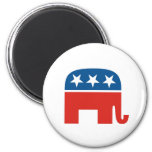 united states of america republican party elephant 2 inch round magnet