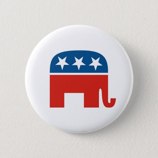 united states of america republican party elephant button