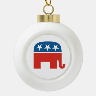 united states of america republican party elephant ceramic ball christmas ornament