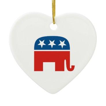 tony4urban united states of america republican party elephant ceramic ornament