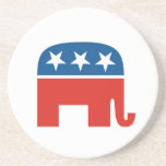 united states of america republican party elephant drink coasters
