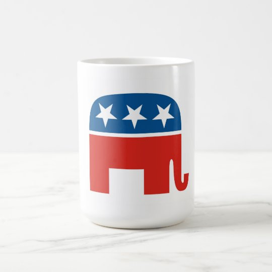 united states of america republican party elephant coffee mug