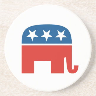 united states of america republican party elephant drink coaster