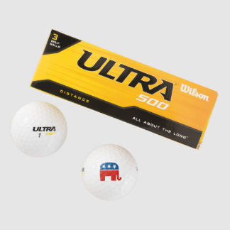 united states of america republican party elephant golf balls