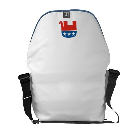 united states of america republican party elephant courier bag