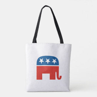 united states of america republican party elephant tote bag