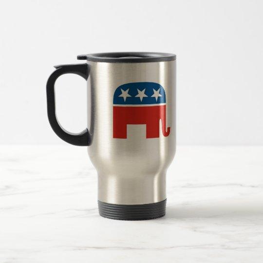 united states of america republican party elephant travel mug