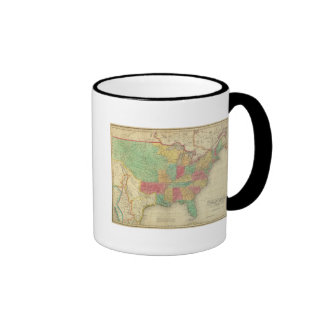 United States Of America Ringer Coffee Mug