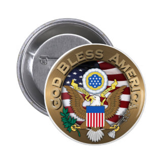 United States of America Seal - God Bless America 2 Inch Round Button