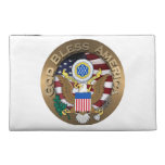 United States of America Seal - God Bless America Travel Accessories Bag