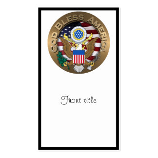 United States of America Seal - God Bless America Business Card Templates
