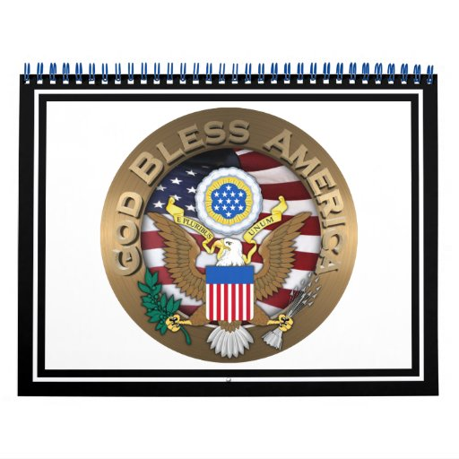 United States of America Seal - God Bless America Wall Calendars