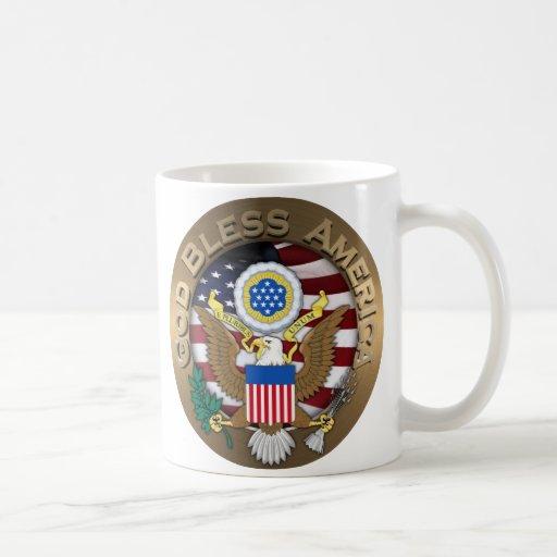 United States of America Seal - God Bless America Coffee Mug