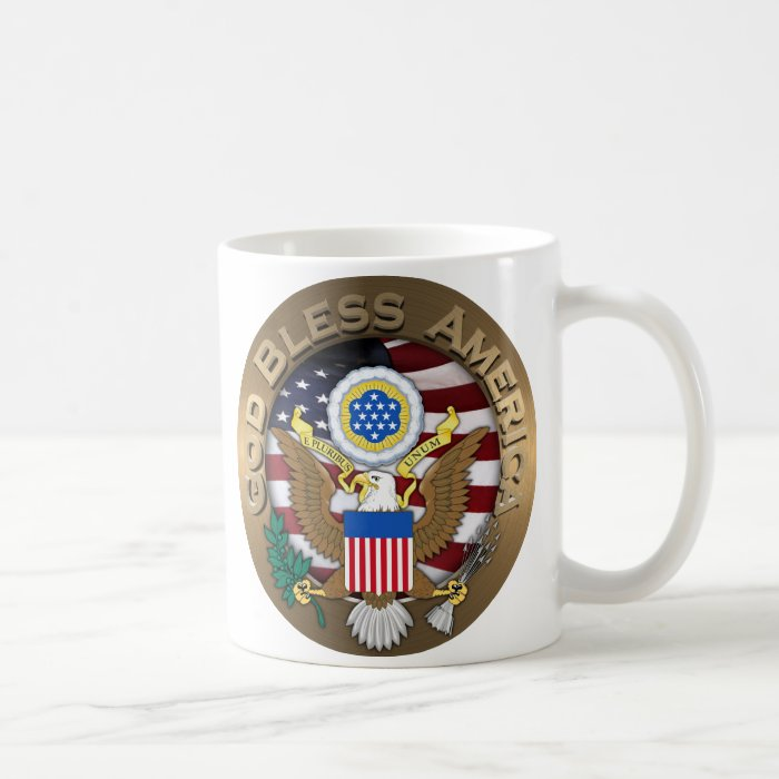United States of America Seal - God Bless America Coffee Mug