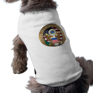 United States of America Seal - God Bless America Pet T Shirt