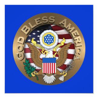 United States of America Seal - God Bless America Invitation