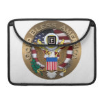 United States of America Seal - God Bless America Sleeves For MacBook Pro