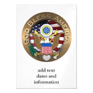 United States of America Seal - God Bless America Magnetic Card