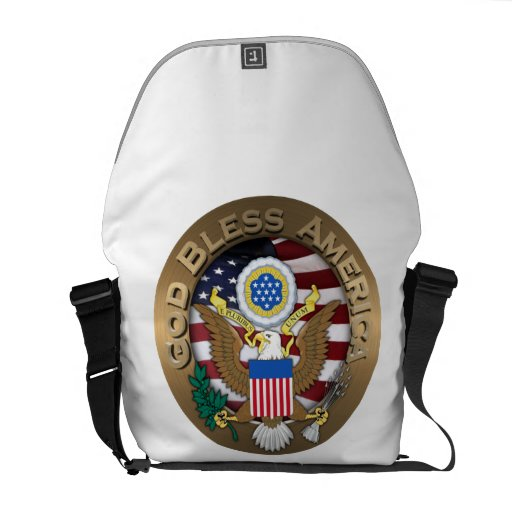 United States of America Seal - God Bless America Commuter Bag