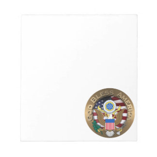 United States of America Seal - God Bless America Notepad