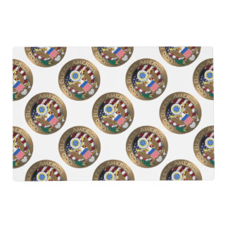 United States of America Seal - God Bless America Laminated Place Mat