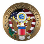 United States of America Seal - God Bless America Acrylic Cut Outs