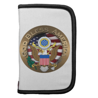 United States of America Seal - God Bless America Folio Planner