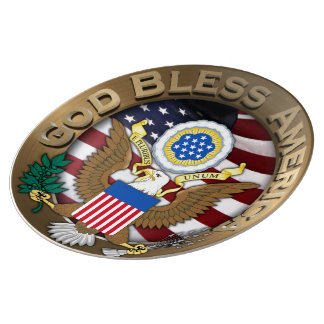 United States of America Seal - God Bless America Plate