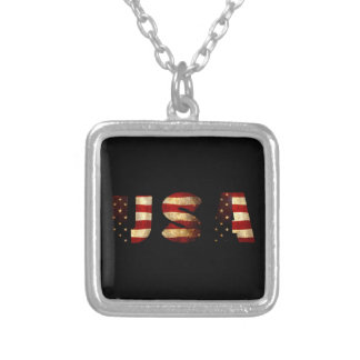 United States of America Silver Plated Necklace