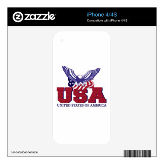 United States of America Decals For iPhone 4S
