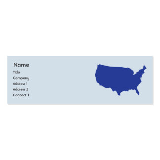 United States Of America - Skinny Double-Sided Mini Business Cards (Pack Of 20)