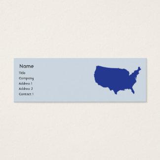 United States Of America - Skinny Mini Business Card