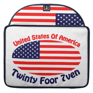 United States Of America Sleeve For MacBooks