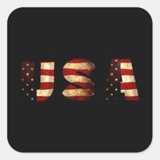 United States of America Square Sticker
