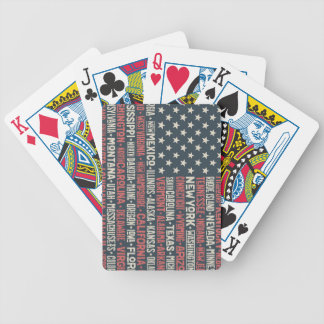 United States Of America |States & Capitals Bicycle Playing Cards