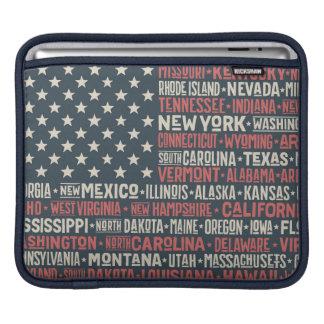United States Of America  States & Capitals iPad Sleeve