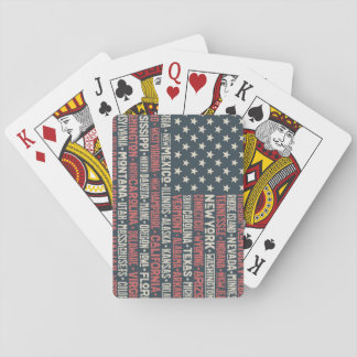 United States Of America |States & Capitals Playing Cards