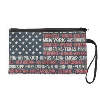 United States Of America |States & Capitals Wristlet Purse