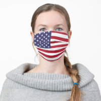 United States of America USA American Flag Unisex Cloth Face Mask