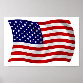United States of America (USA) Flag Poster Print