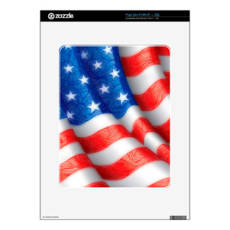 United States of America Wavy Flag Zen Doodle Art Decals For The iPad