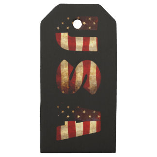 United States of America Wooden Gift Tags