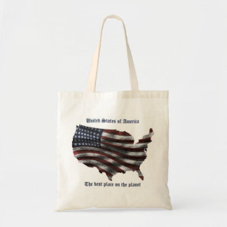 United States of America words, wavy flag and more Tote Bag